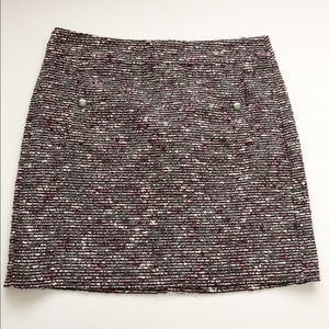 Loft Petites brand tweed skirt